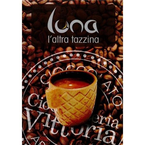 Luna - tazzina mangia e bevi - gusto cioccolato